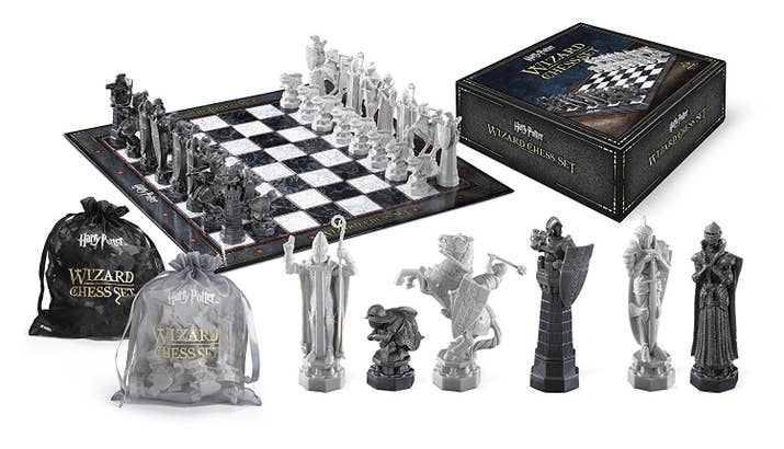 """""""That's totally barbaric.""""""""That's Wizard's chess.""""Get it from Amazon for $45."""