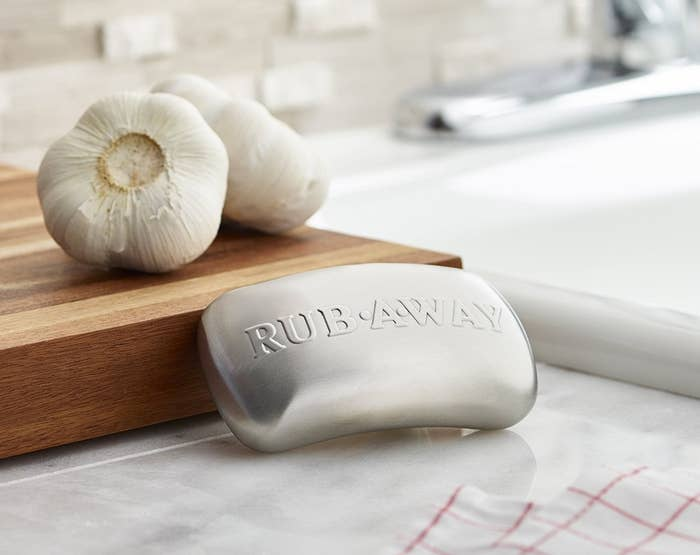 "Promising review: ""Definitely get one of these if you're thinking about it. I was skeptical, but it really works. I do a lot of cooking with garlic and onion and after one wash with this, my hands no longer smell like garlic or onions. Really worth having in the kitchen."" —NosGet it from Amazon for $8.99."