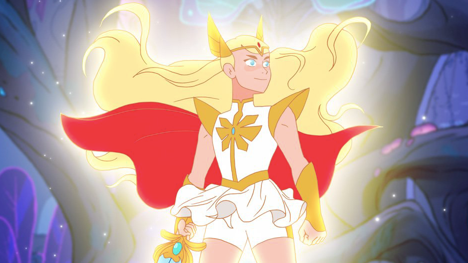 """Plot: """"She-Ra, Princess of Power, leads a rebellion to free her land of Etheria from the monstrous invaders the Horde.""""Starring: Aimee Carrero, Joe Amato, Lauren Ash, Krystal Joy Brown"""