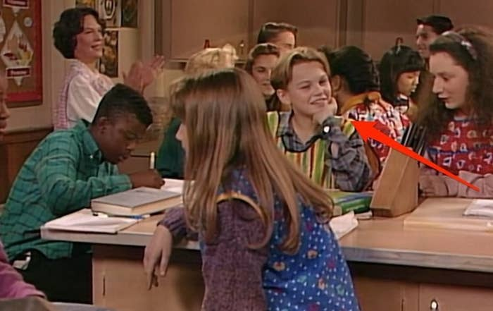 Long before he stole the hearts of women everywhere as Jack Dawson, a young Leo had the guest role in Roseanne as one of Darlene's home economics classmates (and look at how adorable he was).