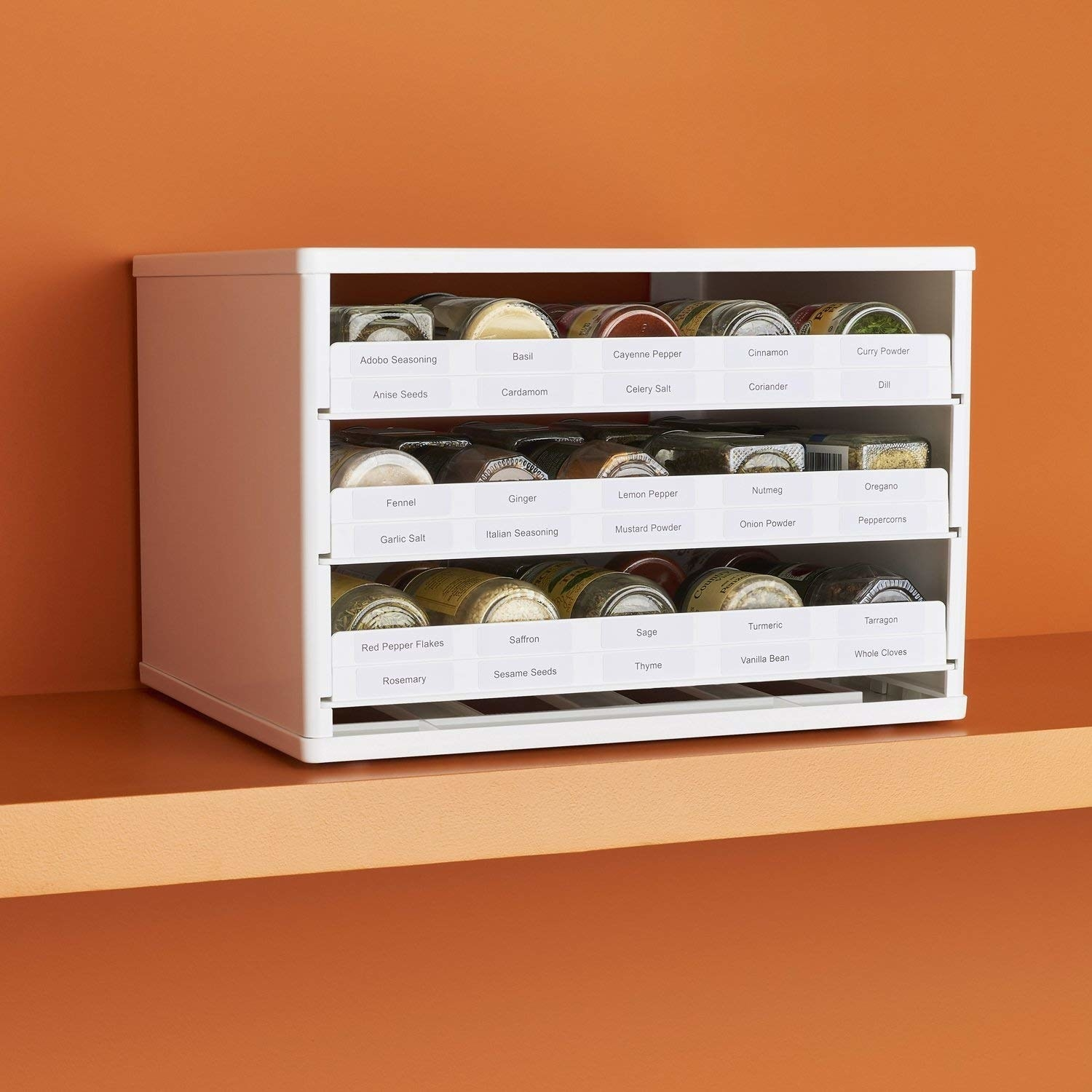 If You Have A Kitchen, You Need To Get This Pull-Down Rack For All Your Spices