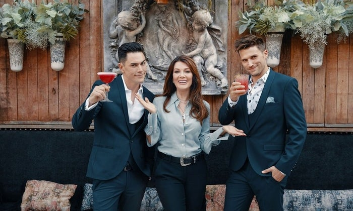 Lisa Vanderpump with the Toms: Tom Sandoval and Tom Schwartz.