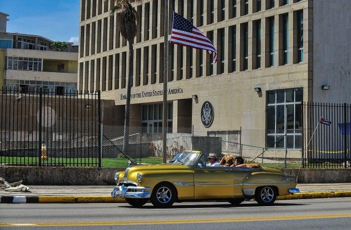 The US Embassy in Havana, on Oct. 3, 2017.
