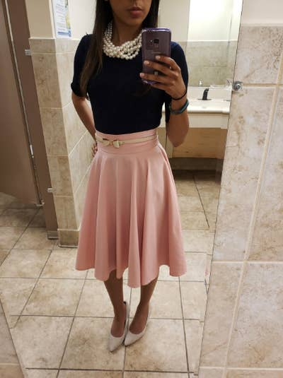 5b1f094b2c 16. A simple high-waisted trumpet skirt everyone should have in their  closet because it's the perfect go-to when you feel like you have nothing  to wear.