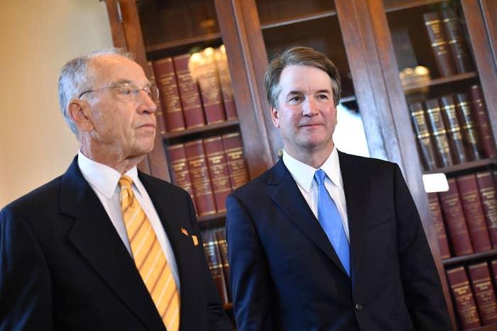 Sen. Chuck Grassley and Brett Kavanaugh