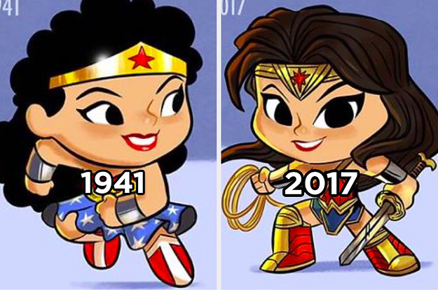 This Artist Adorably Illustrates How Iconic Characters Have Changed Over Time