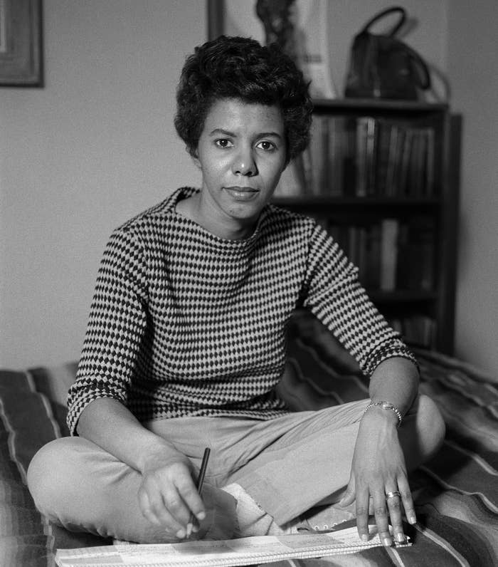 Lorraine Hansberry in her New York City apartment in 1959.
