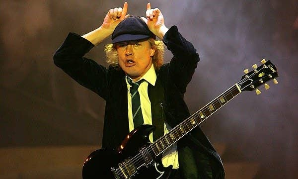 Angus Young is often cited as Australia's best lead guitarist, while his older brother, Malcolm Young (who passed away in 2017) is best know for those solid rock riffs of AC/DC. The iconic oz band has platinum status with the albums: Highway to Hell, and Back in Black.
