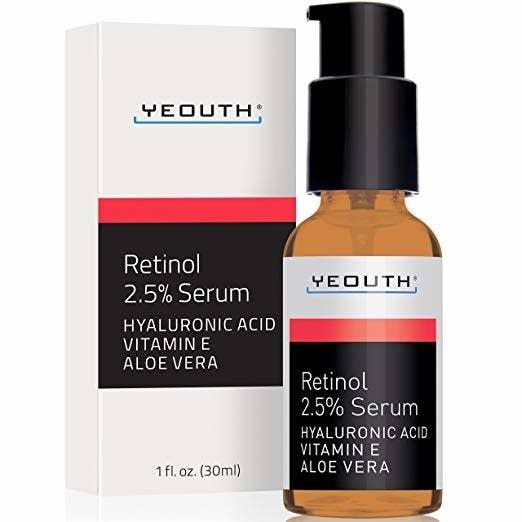 the bottle of retinol serum