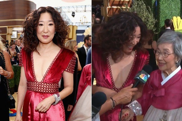 Sandra Oh Brought Her Parents To The Emmys And It's So Damn Cute