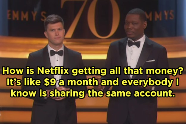 The 13 Best Jokes From Colin Jost And Michael Che At The Emmy Awards