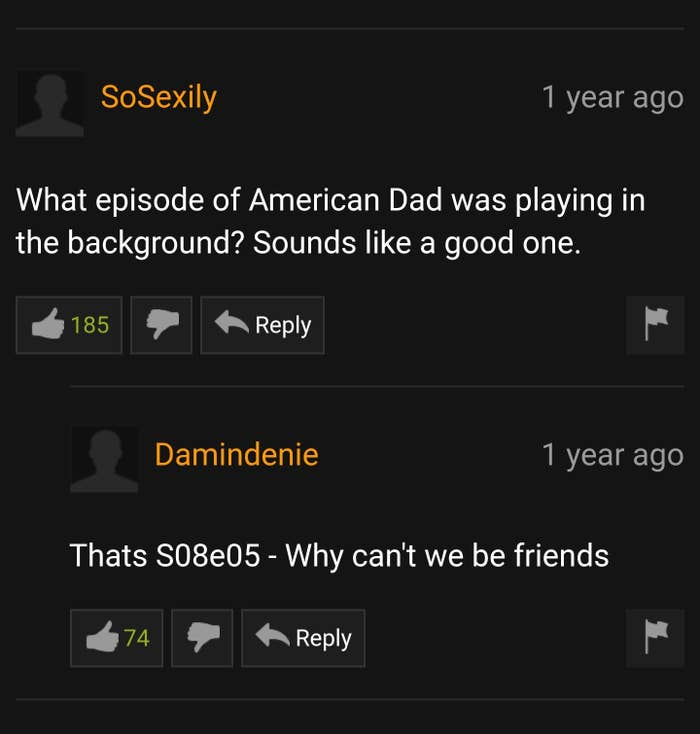 Pornhub Comments That'll Make You Laugh