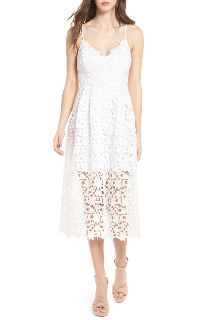 """This bb has over 800 glowwwwing reviews, too. Note that it does run small, so size up!Get it from Nordstrom for $89 (available in sizes XS–XXL and in white, plus eight other colors).Promising review: """"The perfect dress for a wedding, bridal shower, or really any event. Very comfortable. All in all this is a wonderful dress and the perfect option for a wedding! Already thinking about purchasing in other colors for future events."""" —Andy66"""