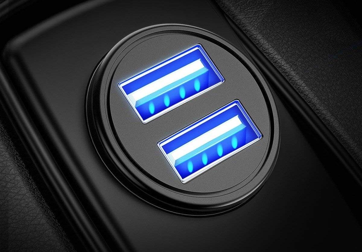 The charger inside a car cigarette lighter
