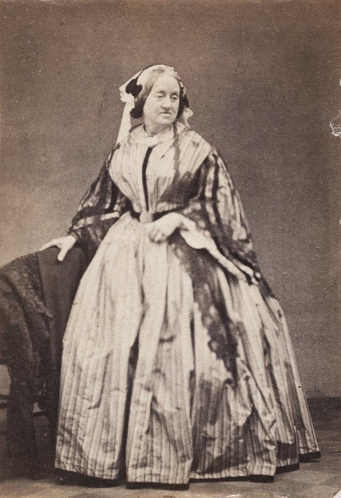 Portrait of Anna Atkins c. 1862, unknown photographer, albumen print.