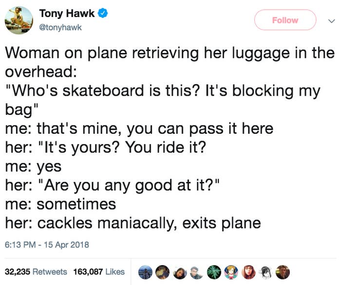 88dc62e92b3a7 Tony Hawk Keeps Tweeting When People Don't Recognize Him And It's ...