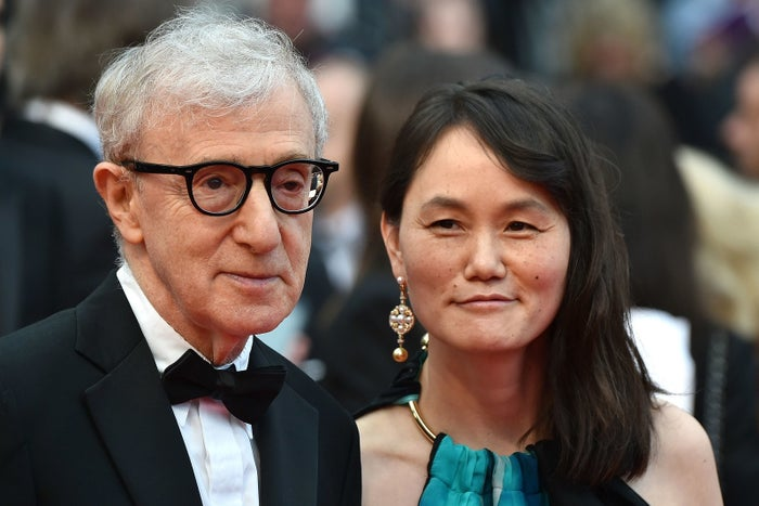 Woody Allen and Soon-Yi Previn on May 11, 2016, attend the screening of the film Cafe Society during the opening ceremony of the 69th Cannes Film Festival.