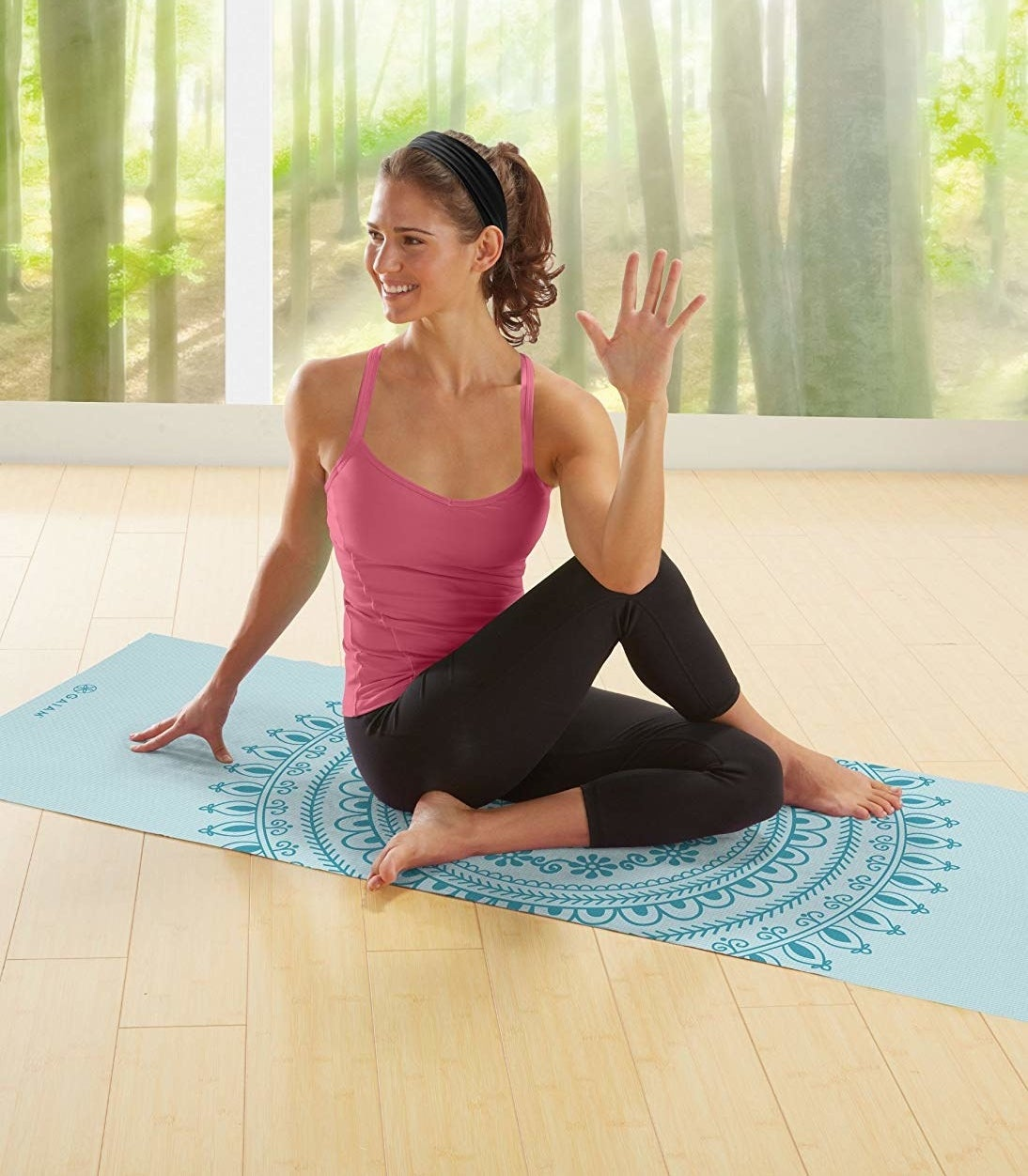 "Promising review: ""I've been practicing yoga for eight years. I've always had problems with various mats. It has been a Goldilocks problem. Either the mat is too thin and hurts my knees or it is too thick and don't make good contact for standing poses. The 6mm thickness is just right. It provides enough padding to save my knees or even my hands in Downward Dog but not too much to inhibit my practice. After six uses, I can say I highly recommend this mat."" —jawoeGet it from Amazon for $23.98+ (available in 32 colors and patterns)."