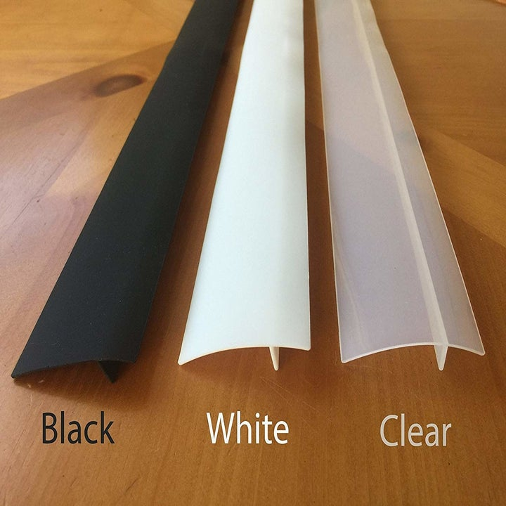 The covers in black, white, and clear