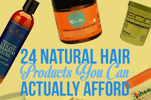 24 natural hair products you can actually afford