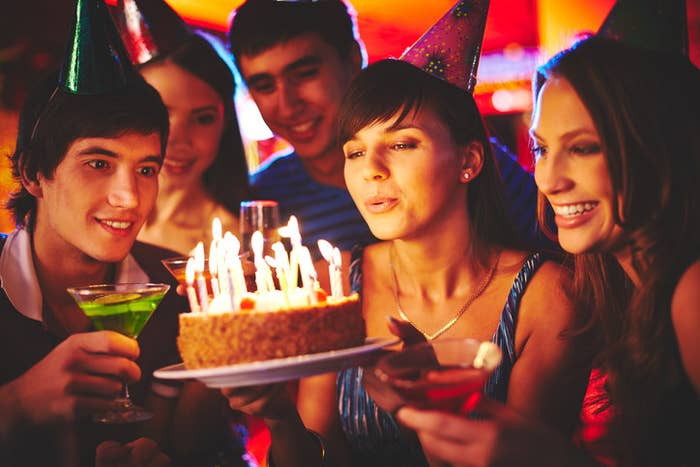 The amount of bacteria depends on how sick or drool-y the birthday person is.