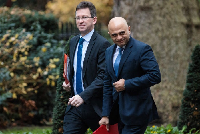 Culture secretary Jeremy Wright (left) and home secretary Sajid Javid