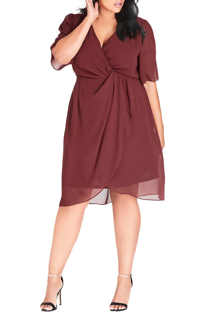 """Promising review: """"Bought this dress in black for a wedding and received so many compliments! It is low cut but I loved the deep v. Classic and chic silhouette for a curvy body!"""" —NordstromCustomerPrice: $89 (available in sizes XS–XXL and three colors)"""