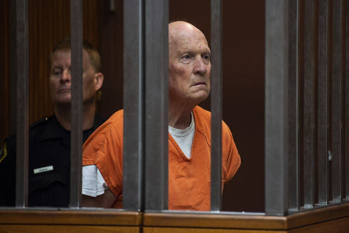 Golden State Killer suspect Joseph James DeAngelo in a Sacramento jail court in 2018.