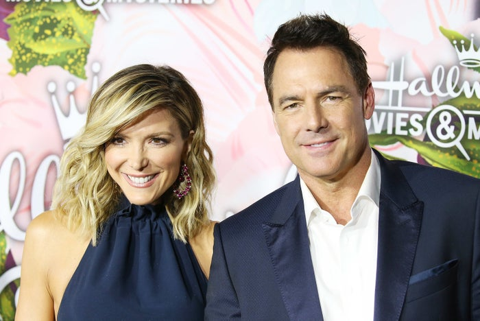 Home & Family cohosts Debbie Matenopoulos and Mark Steines.