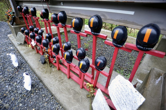 A memorial to 29 miners killed in a 2010 explosion at a West Virginia coal mine.