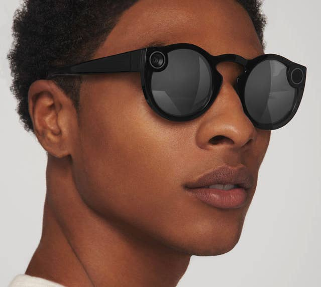 ef777f11ed81 Spectacles Snapchat glasses that ll record a 10-second video based on what  you re looking at. The glasses sync up with your Snapchat account so you  can ...