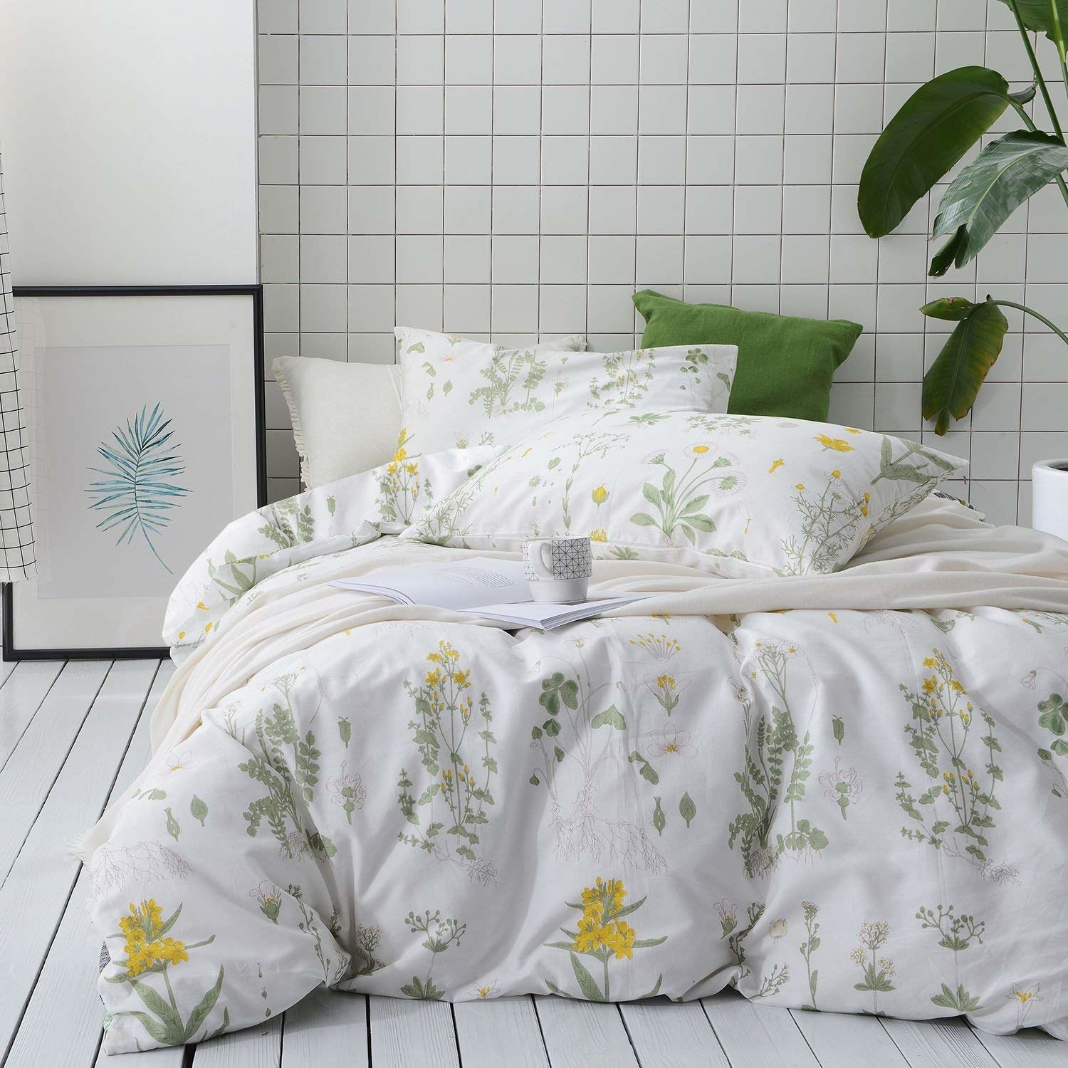 Solid Pattern 1 Pc Duvet Cover With Zipper Closure With Cornor
