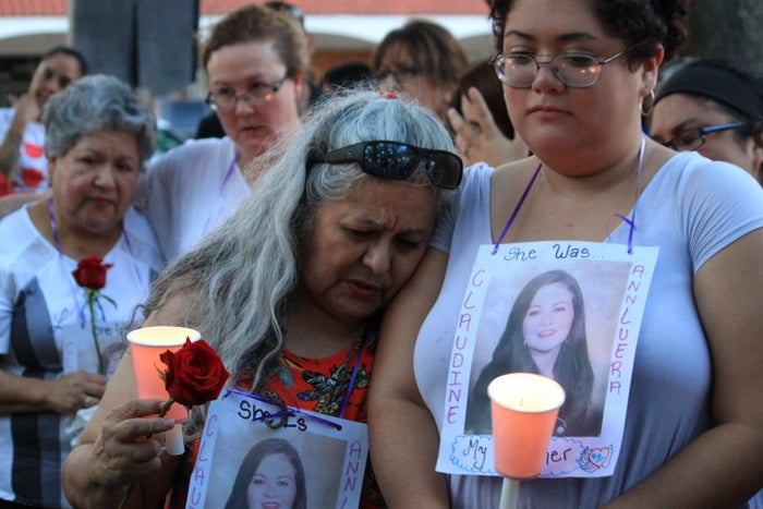 A candlelight vigil in downtown Laredo for the four women.