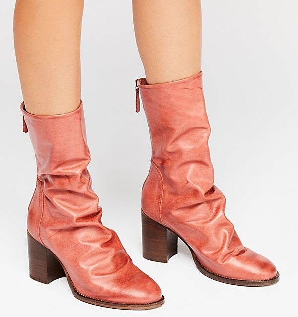 01b84a882 Leather block-heeled boots that ll kick off the new season right. You ll  actually be able to stand taking fall Instas.