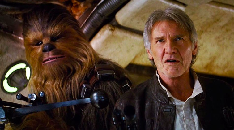 Harrison Ford AND J.J. Abrams both broke bones while filming Star Wars: The Force Awakens (2015) -  Ford and the Millennium Falcon go way back but, apparently, the ship has some bad blood with the actor. During shooting, a hydraulic door shut on him, which caused MULTIPLE injuries to MULTIPLE people.