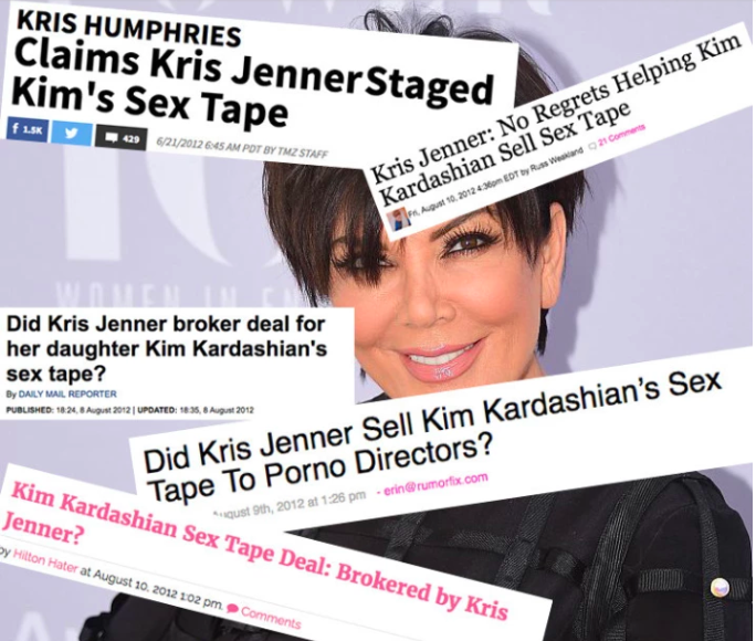 The notion that Kris Jenner deliberately leaked Kim's sex tape in a bid to secure fame and a TV show, is a theory that has been brought up countless times over the Kardashians' decade in the public eye.