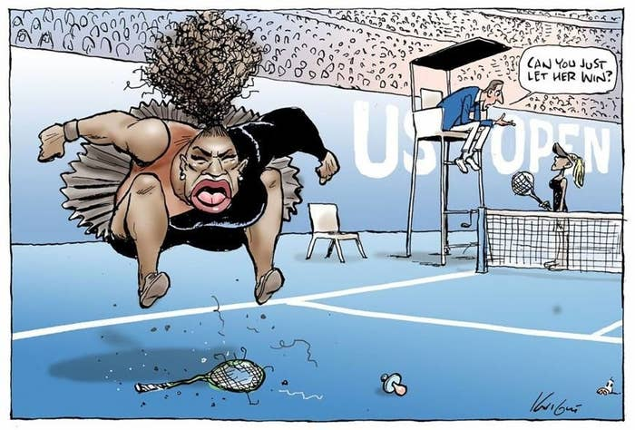 """By this point, most people have most likely already seen the controversial cartoon of tennis player Serena Williams, posted on Twitter by the Herald Sun, an Australian newspaper. The cartoon of the sports icon, the Herald Sun defends, is supposed to highlight that William's behavior during her match with Naomi Osaka during the finals of the US Open were that of a """"sore loser"""". Her physical features in the depiction are heavily exaggerated, which admittedly is a characteristic of many critical cartoons from a variety of newspapers. However - what drew attention in this case, what made this cartoon different - was Mark Knight's drawing style. William's physical features in the cartoon hold a striking, undeniable resemblance to a false caricature of the Black Self that holds more than the intention to criticize an individual's actions. These visual representations exhibit stereotypes and subtexts with roots so deep, they been viciously perpetuated since the first accounts of Africa by its colonizers.The drawing style might not seem relevant to some, such as the Herald Sun, who defends their work: """"If the self-appointed censors of Mark Knight get their way on his Serena Williams cartoon, out new politically correct life will be very dull indeed."""" This simply is an unsound argument - not only for the deliberate ignorance of a vast historical context of discrimination, oppression, and stereotyping against African Americans, but for the suggestion that the caricatured images of these individuals, such as Serena Williams, are inconsequential in nature and have no future or lasting effect on the biases and opinions of its audience and readership. The reality is quite the opposite. In a contemporary context, the media is arguably one of the largest influences on a viewer's racial bias - whether the creators and broadcasters of that content are aware of the receptive consequences or not. This can pervade even our most sacred institutions, such as our government. The concept th"""