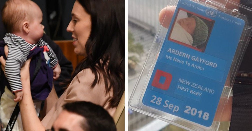Please Enjoy These Photos Of Jacinda Ardern's Baby On Her Big Day At The United Nations