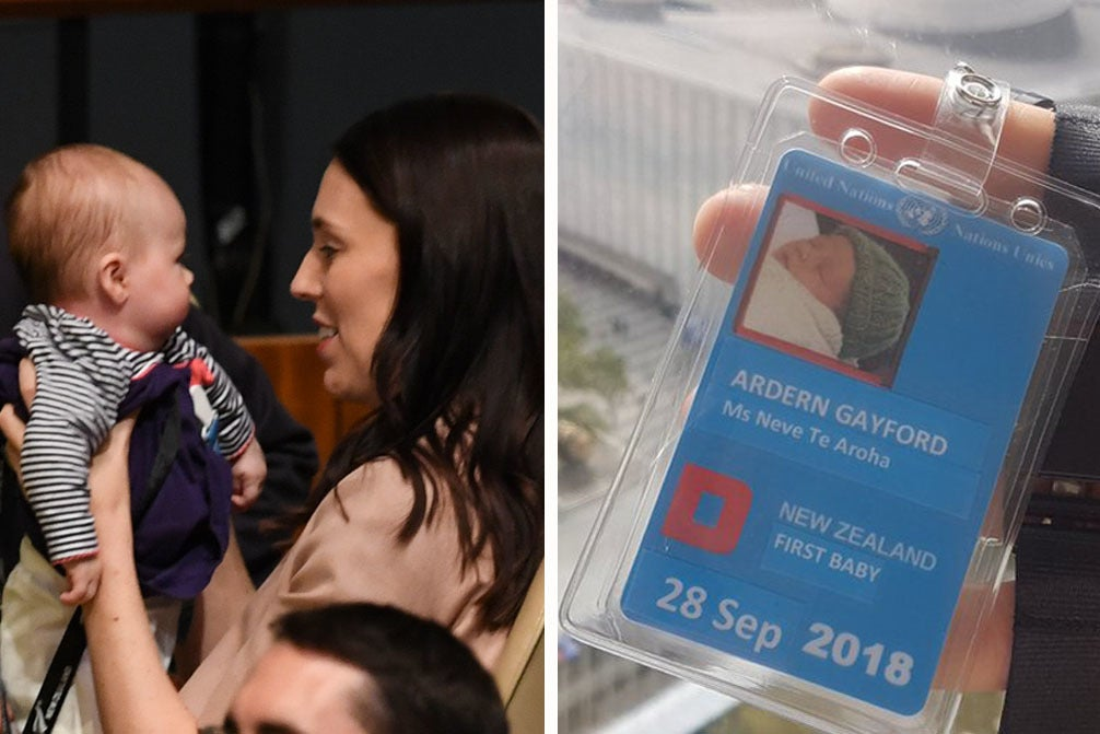 Please Enjoy These Cute Photos Of Jacinda Ardern's Baby On Her First Diplomatic Trip