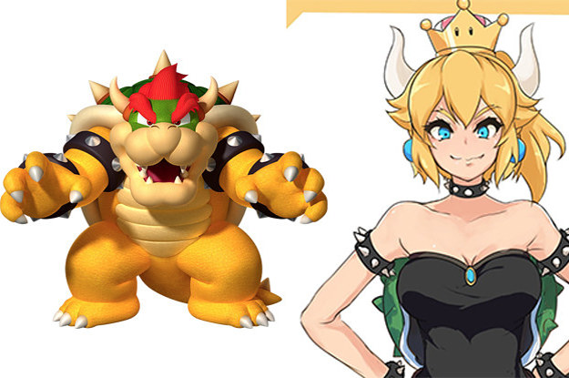 Someone Drew Bowser From Mario As A Sexy Girl And Now