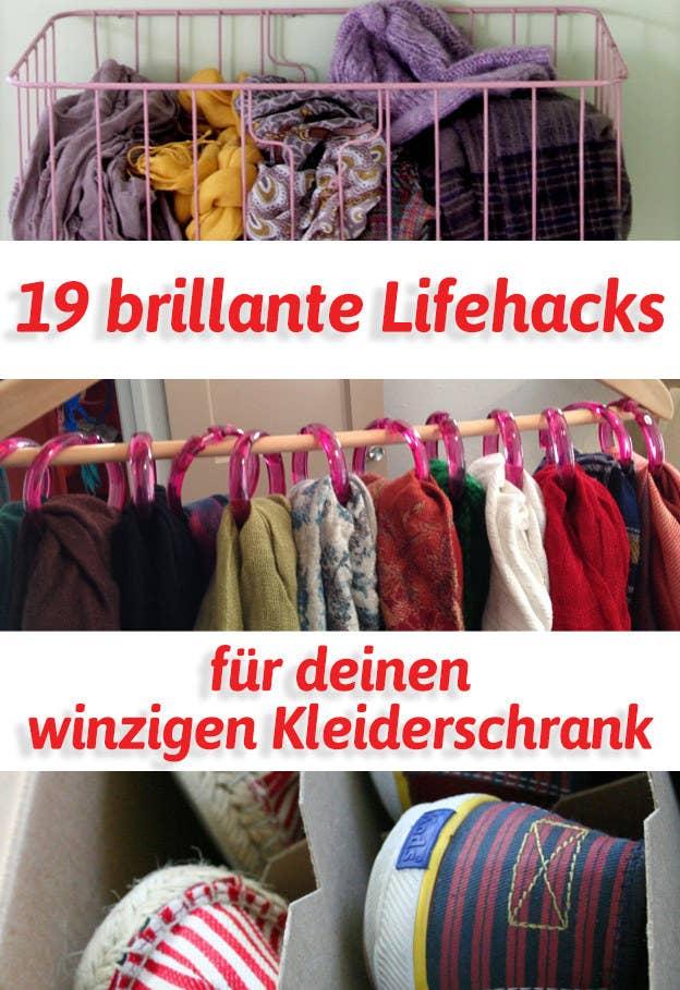 19 brillante Lifehacks für deinen winzigen Kleiderschrank