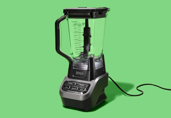 """This model has a 72-ounce BPA-free pitcher with a pour spout. It's dishwasher-safe so cleanup will be a breeze. There are three different blending speeds, and the blender is designed so that the blades won't spin unless the lid is tightly secured into place.Promising review: """"I love making smoothies and blew through two regular blenders within four months, so I needed a heavy-duty blender. This Ninja Professional Blender fits the bill perfectly. It's easy to use, chops ice and fruit with no problem, and is simple to use. I love this Ninja because it's simple, i.e., it has easy-to-read and easy-to-use buttons without all of the nuances of some of the more expensive models. I highly recommend the Ninja Professional if you're looking for a classic and up-to-date blender that'll power-through ice, fruit, and whatever else you throw at it."""" —SmoothieGirlGet it from Walmart for $89.99.This is our pick for the best budget blender on BuzzFeed Reviews!"""