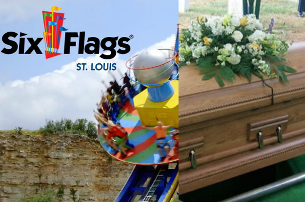 Six Flags Challenges You To Stay In A Coffin For 3...