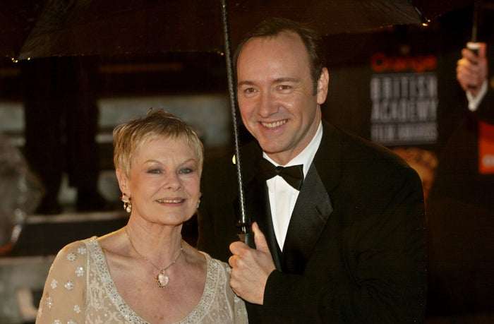 Dench and Spacey in 2002.