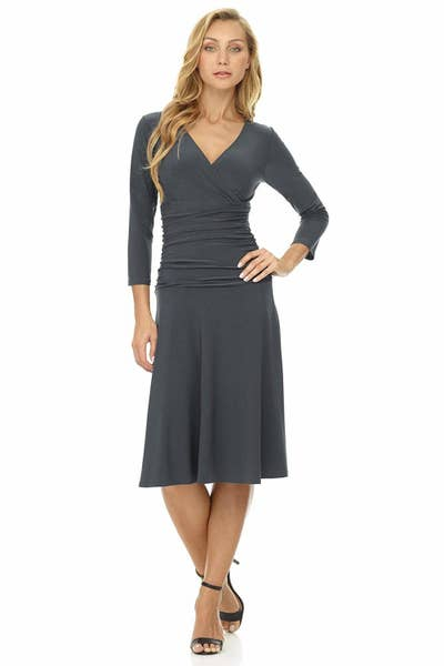 a39dfbc0114 A fit-to-flare surplice dress available in 51 colors. Will you want to buy  them all? Yes. Your credit card might get upset but alas, it's your life!