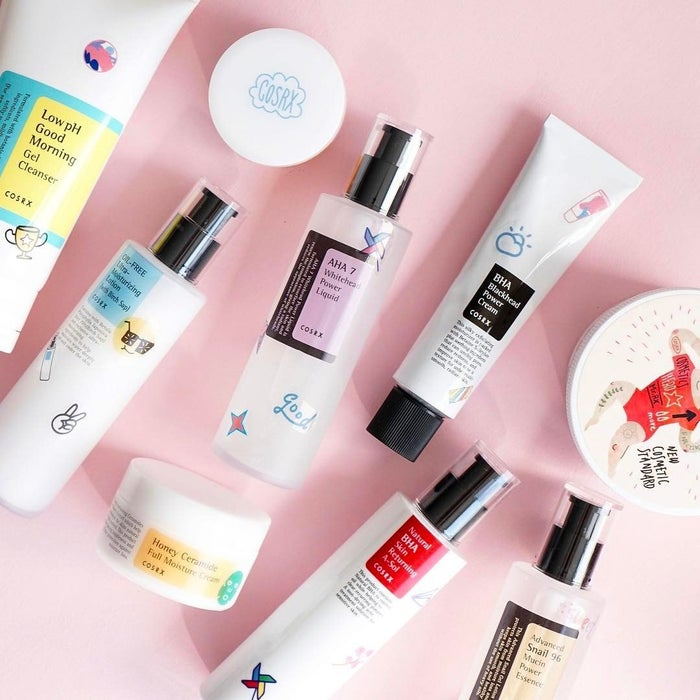 Their products are top-notch when it comes to ingredients that'll treat your irritated skin without being overly harsh — we're talking tea tree oil, honey, willow bark water, snail mucin, apple fruit water, etc.