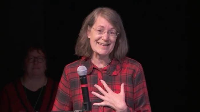 Ruth Etzel, the head of EPA's Office of Children's Health, speaking in Alaska in 2016.