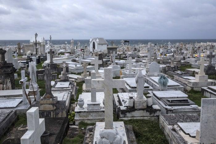 The Santa María Magdalena de Pazzis Cemetery in San Juan, Puerto Rico, shortly before Hurricane Maria hit.