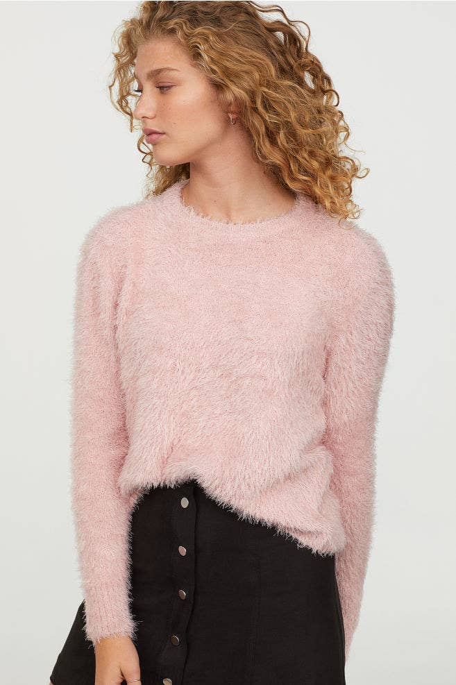 cc06fce041f8 A 3D fluffy sweater that'll be soft on the eyes and on the skin. Basically the  sweater version of the 😍 emoji.