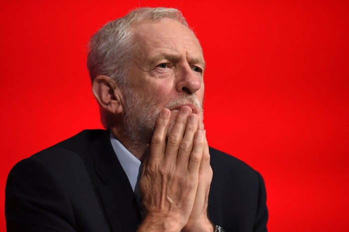 Labour party leader Jeremy Corbyn at the party conference in Liverpool